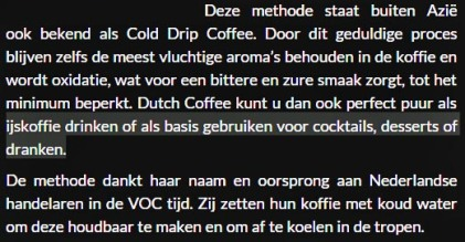 dutchcoffeetekst