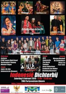 Flyer artiesten Indonesie dichterbij