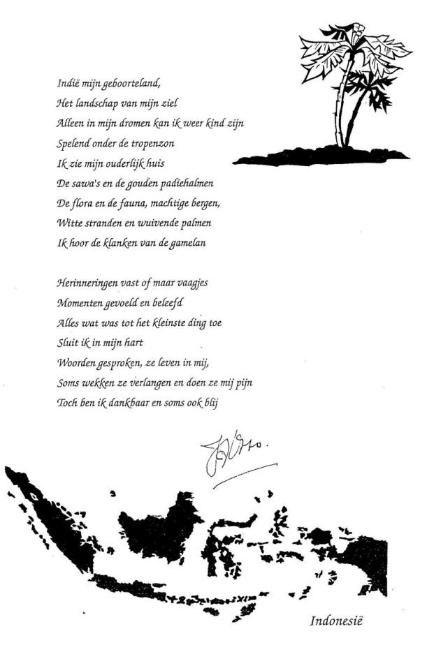 Hedendaags Gedicht van Tante Fien ✝ 2013 | YJ-74